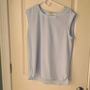 J. Crew sleeveless blouse top small blue